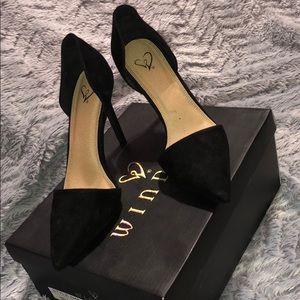 Windsor Black Pointy Heels